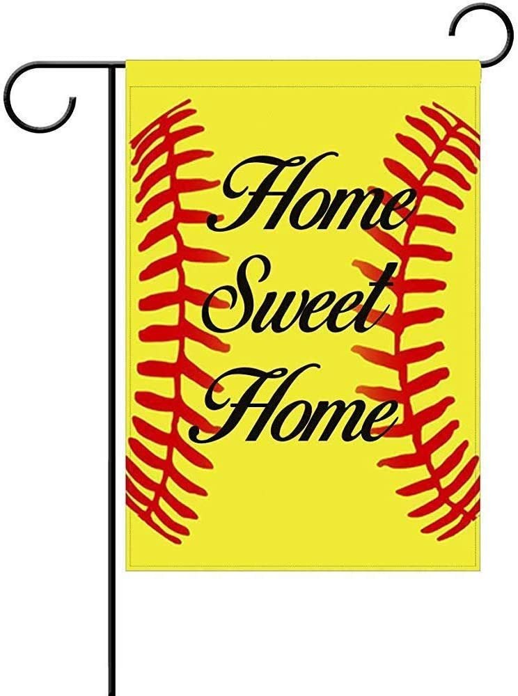 "AnleyGardeflagsU Home Sweet Home Softball Garden Flag Holiday Celebrate Garden Decor Flag,12""x18"" Polyester Double Sided"