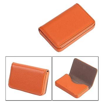 Hochwertiges All Inclusive Paket Für Pu Visitenkarten Business Paket Für Kreative Visitenkarten Visitenkartenhalter Orange