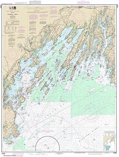 Paradise Cay Publications NOAA Chart 13290: Casco Bay, 35.5 X 46.7, TRADITIONAL PAPER (Charts Maine Lake)