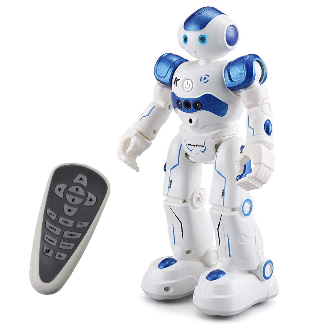 Threeking Rc Robot Toys Gesture Sensing Remote Control Programmable Robot Toy for 6+ Years Old Kids Birthday Present Gift