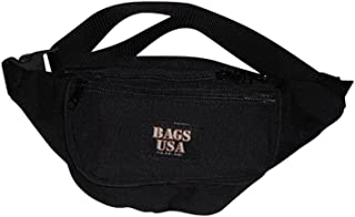 product image for BAGS USA Fanny Pack Large Triple Compartment Waist Bag Dupont Cordura American Made.