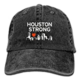 Houston Strong Vector Jeans Caps Retro Jeans Hat For Adults