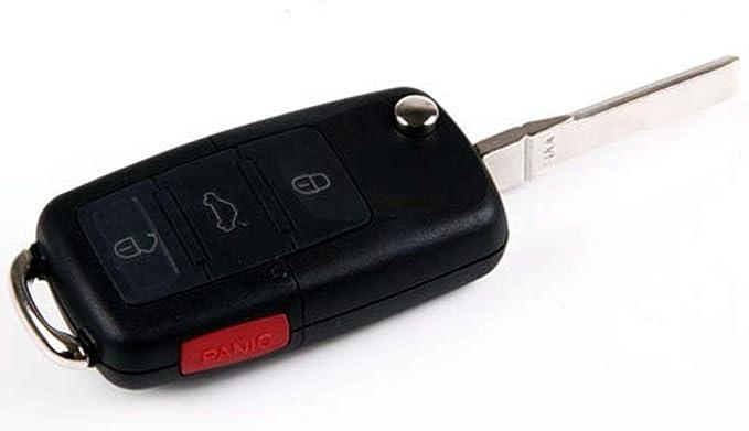 Car Remote Folding Flip Key Shell Case Fob Uncut fit for Volkswagen Beetle 2007