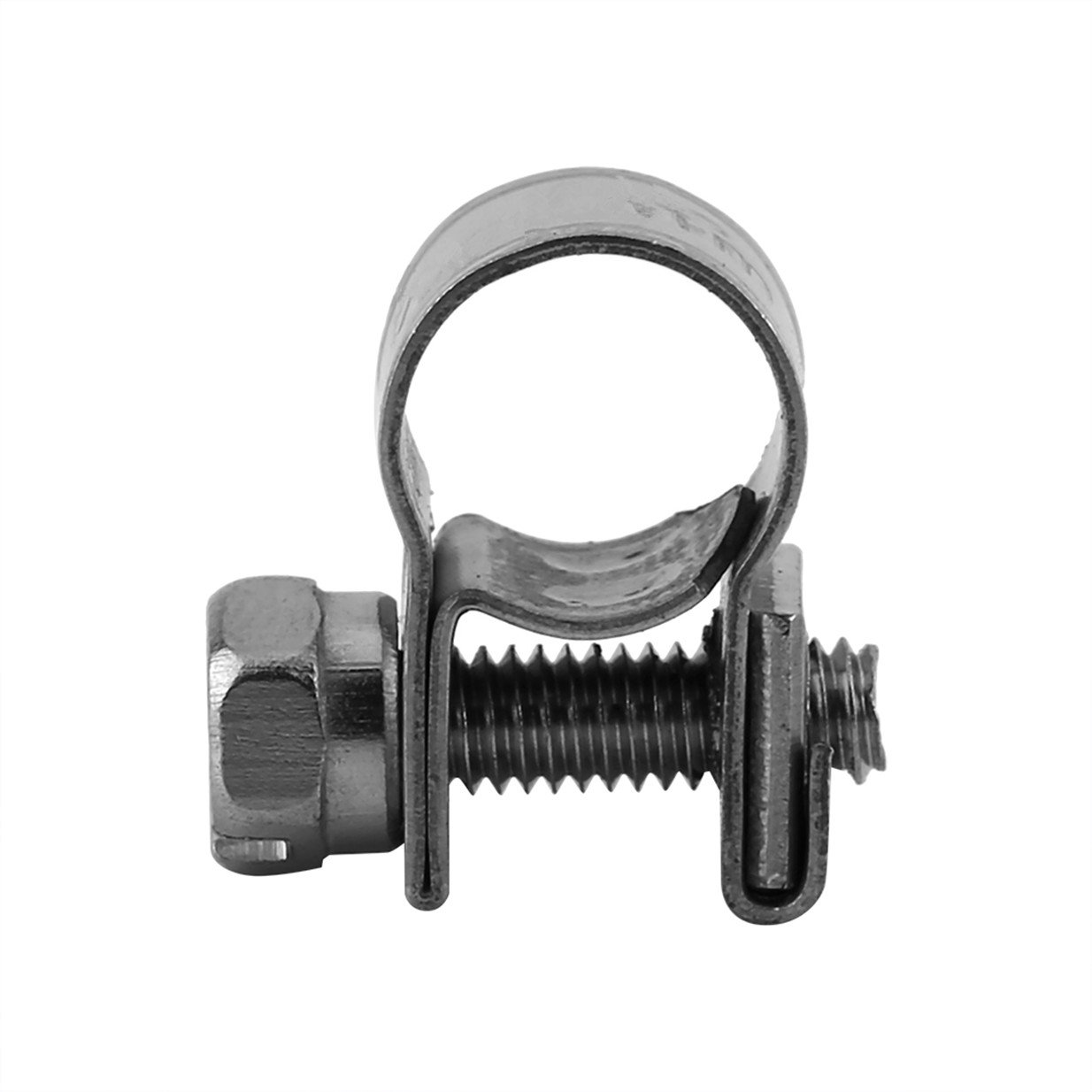 10pcs Hose Clamp,13-20mm Diameter Stainless Steel Mini Fuel Line Pipe Hose Clip Adjustable Tube Clamps 16-18mm