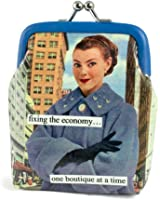 Anne Taintor Vinyl Kiss Lock Change Coin Purse - Fixing The Economy One Boutique At A Time