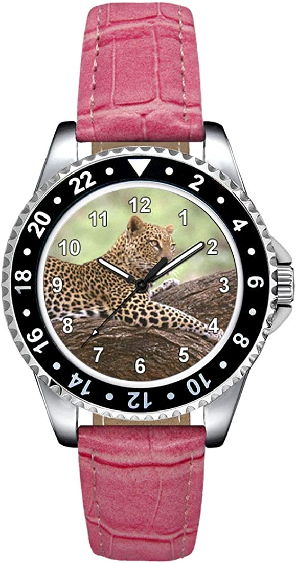 Timest - Jaguar - Reloj para Mujer con Correa de Cuero Rosa CSE058LP