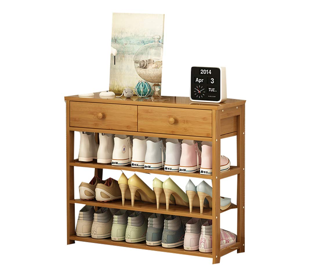 Enolla Multi-Layer Storage Rack with Drawers, Simple and Heavy Personality, Bamboo Plant Frame, Living Room, Bedroom, Environmental Health,A,602558cm