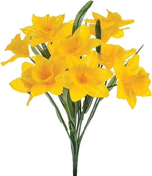 Amazon Com Marjon Flowersfloristrywarehouse Artificial Daffodils