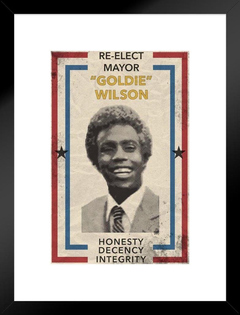Re Elect Mayor Goldie Wilson Movie Mural Giant Poster 36x54 inch
