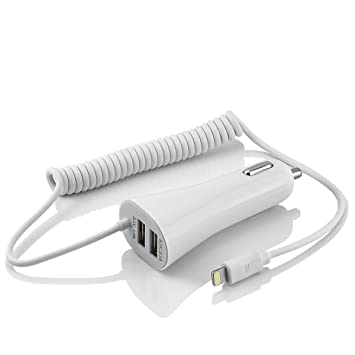 MidGard 8-Pin Cargador de Coche para Apple iPhone & iPad ...
