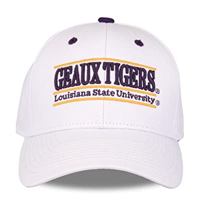 new arrival 1db28 4f802 ... closeout the game ncaa lsu tigers unisex ncaa bar design hat lsu white  adjustable 53943 42693 ...