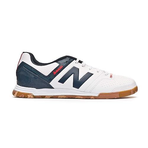 New Balance Audazo Strike 3.0 Futsal Niño, Zapatilla de fútbol Sala, White Grey: Amazon.es: Zapatos y complementos