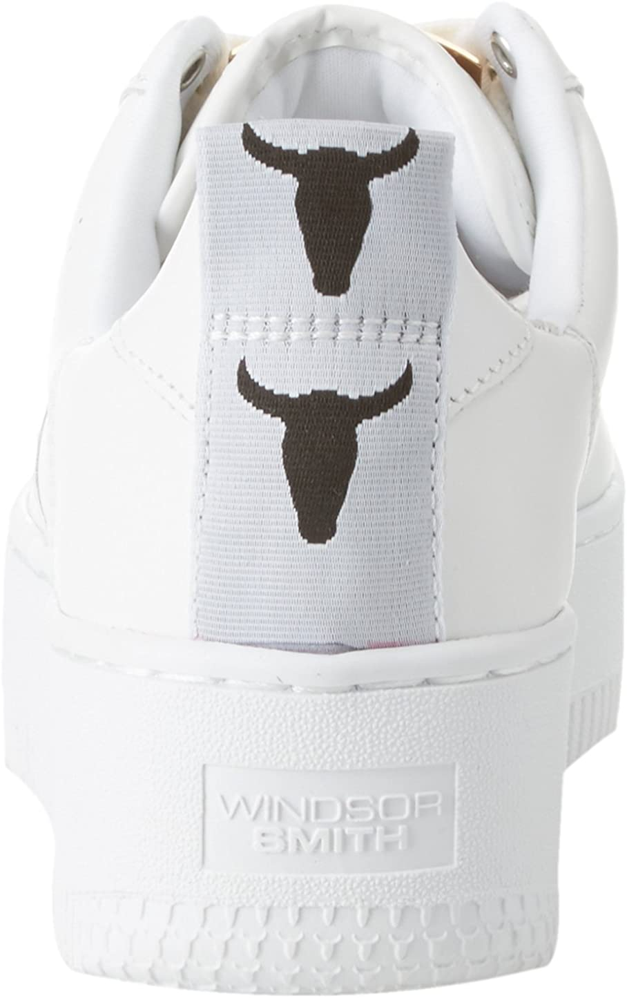Windsor Smith Racerr, Sneaker Donna Bianco Leather White