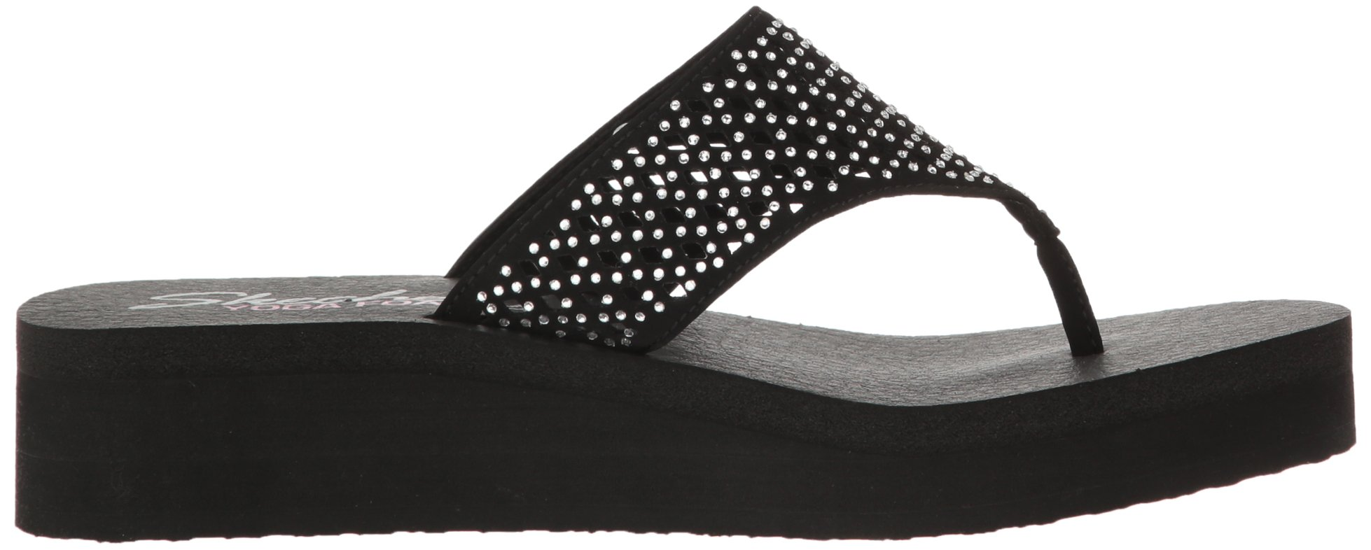 Skechers Cali Women's Vinyasa Flow Wedge Sandal, Black Cutout, 6 B(M) US by Skechers (Image #7)