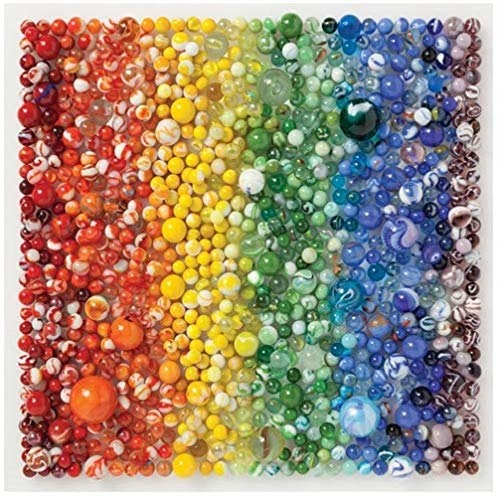 Galison Rainbow Marbles Puzzle, 500 Pieces, 20