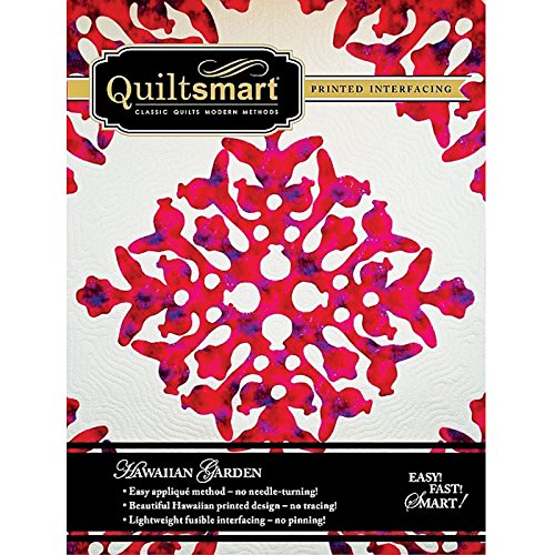 Quiltsmart Hawaiian Garden Classic Pack Printed Fusible Interfacing Pattern
