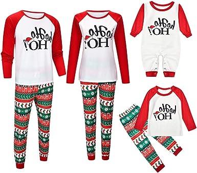 Gtagain Navidad Pijamas Combinación Familia - Ropa Mujer Adulto Pijamas Dos Piezas Invierno Pijama de Algodón Conjunto de Pijama Padre-Hijo: Amazon.es: Ropa y accesorios