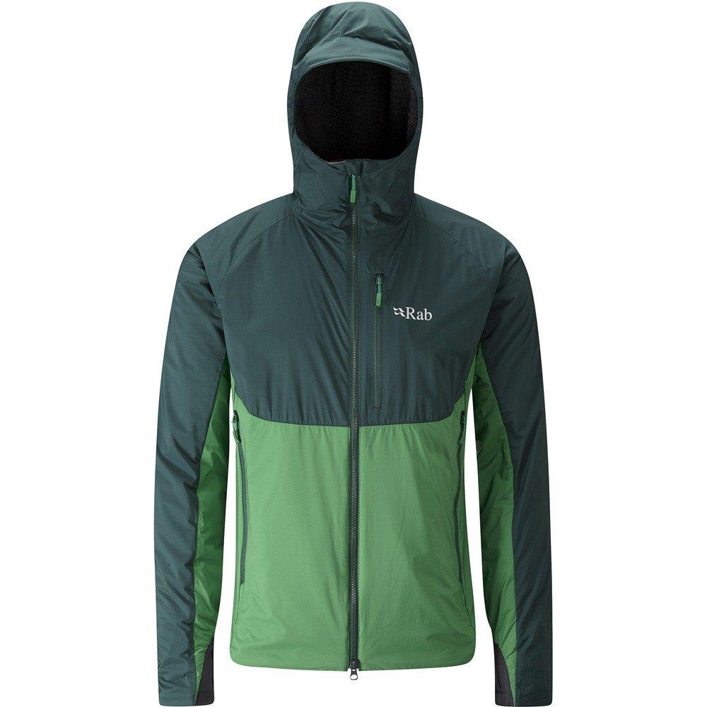 RabアルファDirect Jacket – Men 's B074JL8MBV  Evergreen/Green/Beluga Small