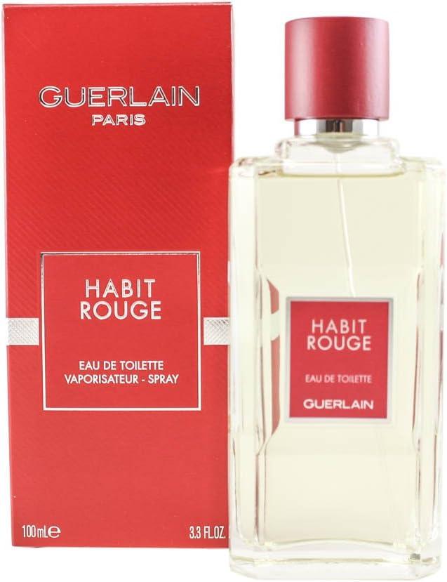 Guerlain Habit Rouge For Men Eau De Toilette Spray 3 4 Ounce Amazon Ca Beauty