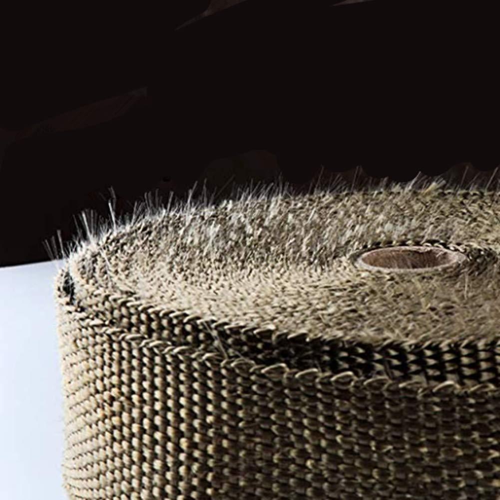 15Pcs Bridas Cable Lazos 15M Rollo de Cinta de fibra antical/órica para tubos de escape de Motocicleta10M//15M