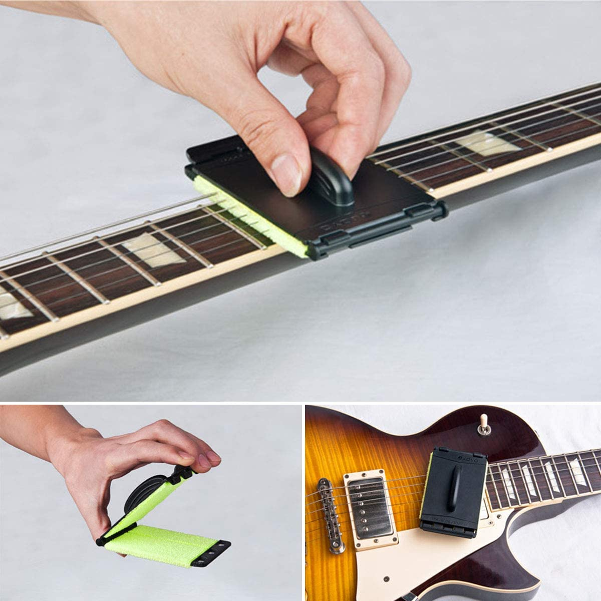 Hölzerner Gitarren Ukulelen Saitenreiniger Rostlöser Bürstenteile