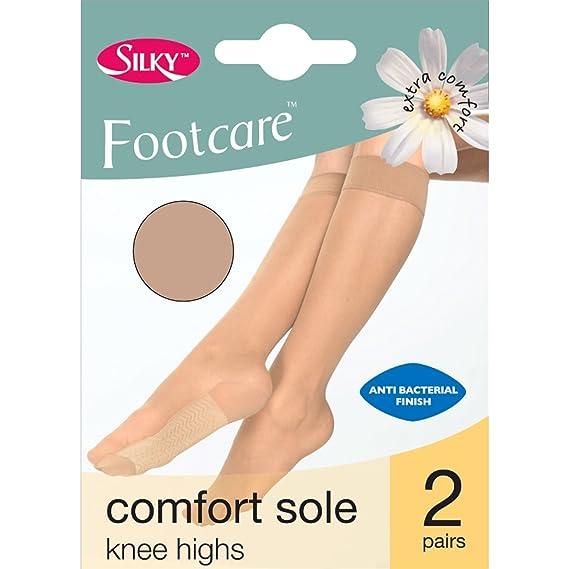 Silky - Calcetines Media Modelo Footcare con Suela cómoda para Mujer (2 Pares) (