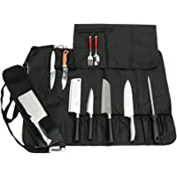 Chef's Knife Bag With 17 Slots Can Holds13 Knives,1 Meat Cleaver, And 3 Utensil Pockets, Multi-function Knife Roll With…