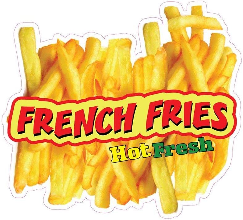 French Fries Concession Decal Sign Restaurant Food Truck Vinyl Sticker 10 inches