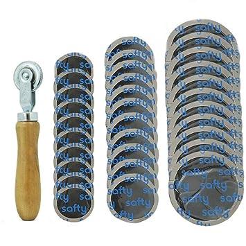Herramienta de Parche de Goma para reparación de neumáticos para Coches, Motocicletas y Bicicletas (32 mm + 43 mm + 57 mm): Amazon.es: Coche y moto