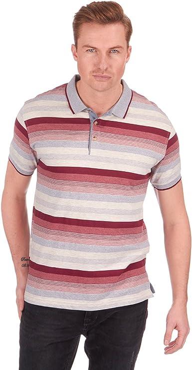 Para hombre diseño de rayas Jersey Polo camisa camiseta Top de manga corta hilo teñido tamaño S, M, L, XL y XXL nuevo