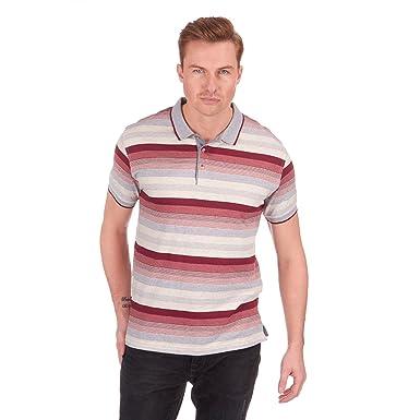 para Hombre diseño de Rayas Jersey Polo Camisa Camiseta Top de ...