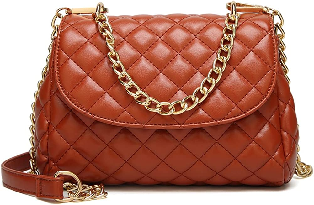 QZUnique Womens Soft PU Leather Fashion Vintage Style Cross Body Shoulder Bag