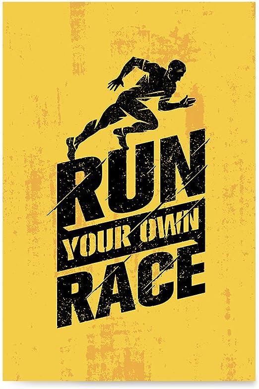 Amazon Com Ezposterprints Gym Inspiration Motivation Quotes Poster Printing Inspirational Motivational Wall Art Print For Home Office Decor Race 12x18 Inches Posters Prints