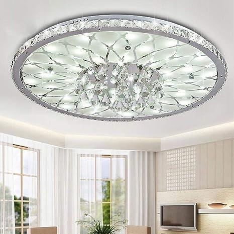 25W LED Redondo Lámpara De Techo Moderno Elegante Cristal ...