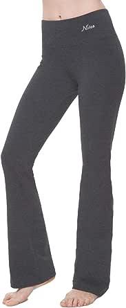 "NIRLON Yoga Pants Women Bootleg Athletic Leggings Flare Leg 28""/30""/32""/34"" Inseam"
