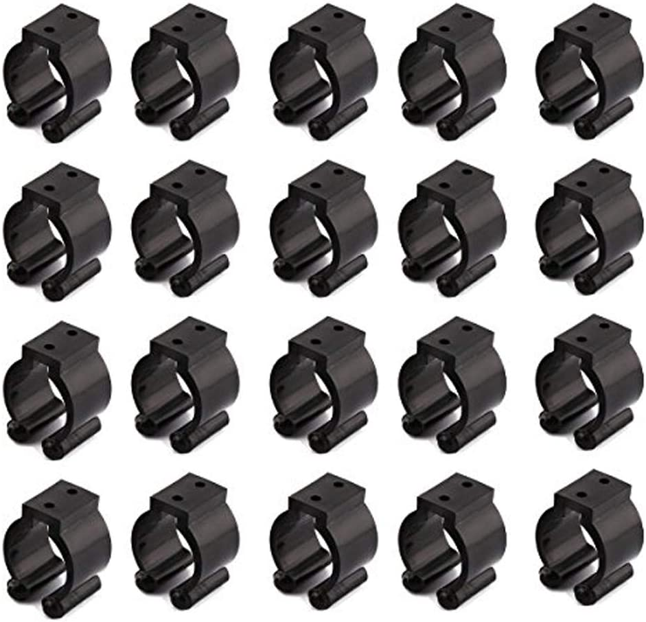 20Pcs Wall-Mounted Fishing Clip Rod Pole Holder Rack Storage Clamps Accessories