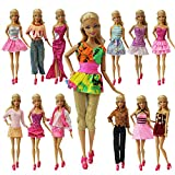 ZITA ELEMENT Lot 20 = 10 Set Fashion Handmade Clothes Outfit + 10 Pairs Shoes for Barbie Doll