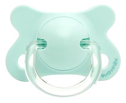Suavinex 303049 - Chupete fisiológico látex 0-4 meses, color azul turquesa