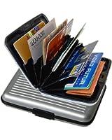 iLett. Aluminum Wallet, SMALL, Silver, Resistant, Card Protect, RFID Block, Card Holder, 6 pockets. Ultra Slim, Portable, For travel