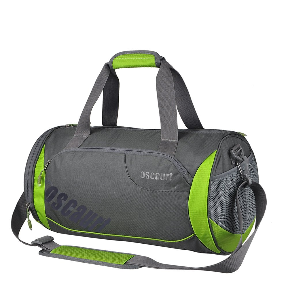 Oscaurt Gym Duffle Sport Bag with Large Ventilated Shoes Compartment For Travel,Gym,Yoga 18 , Green