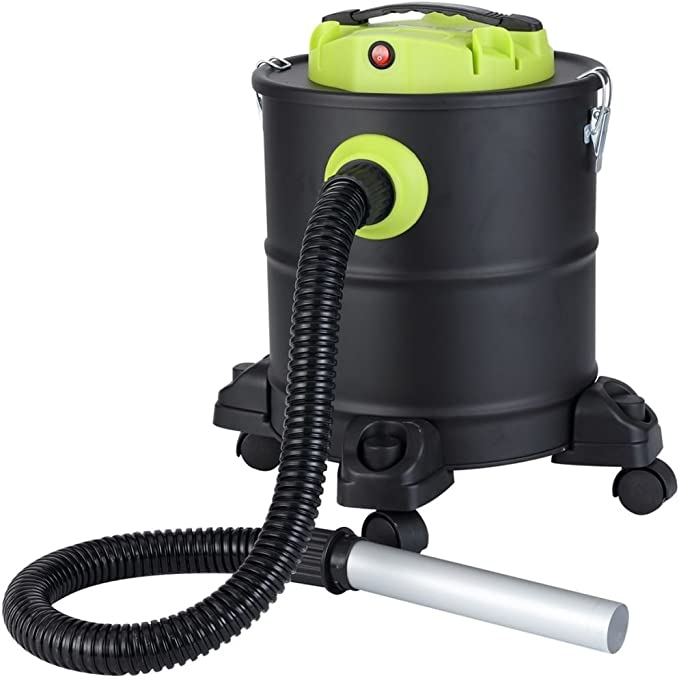 Qlima ASZ 1020 Aspiradora de cenizas, 1200 W, Negro, Verde, Plata ...
