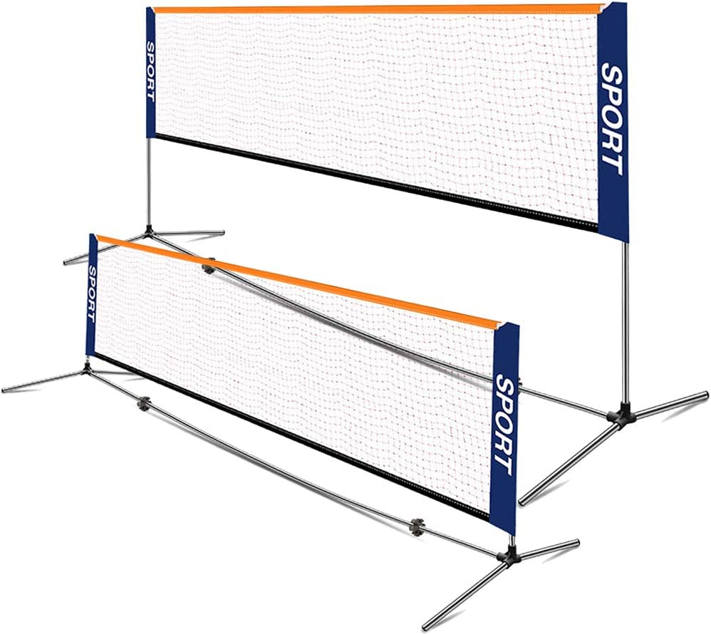 IHAYNER Portable Badminton Net Set Adjustable Height Tennis Net with Carry Bag Easy Set up Net for Backyard Indoor Outdoor Beach