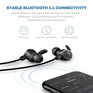 TaoTronics Bluetooth Headphones Wireless Earbuds TT-BH15