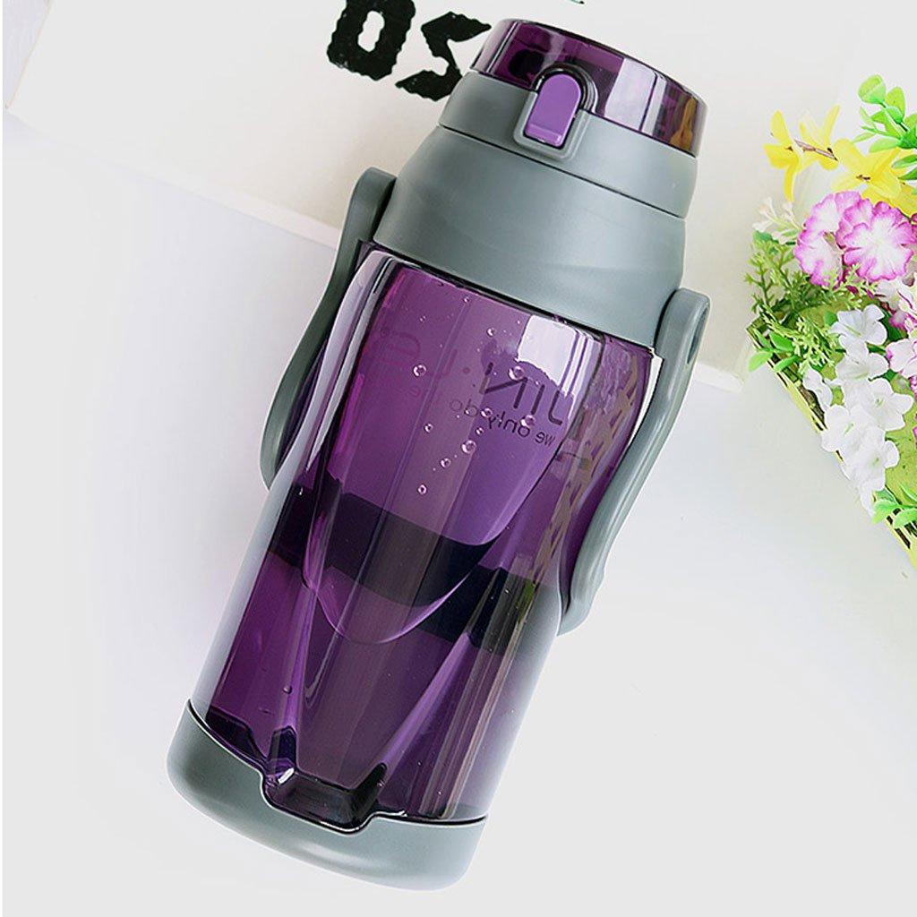 Botella de plástico al Aire Libre de la Taza de la Taza de la Capacidad Grande con la Taza de los Deportes de los Hombres y de Las Mujeres: Amazon.es: Hogar