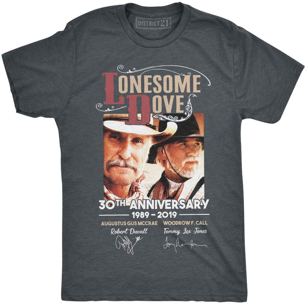 Lonesome Dove 30th Anniversary 1989-2019 T-Shirt Gus and Call