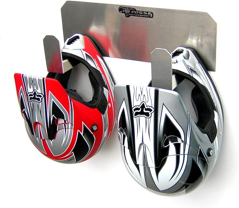 Pit Posse Dual Helmet Rack Holder Aluminum