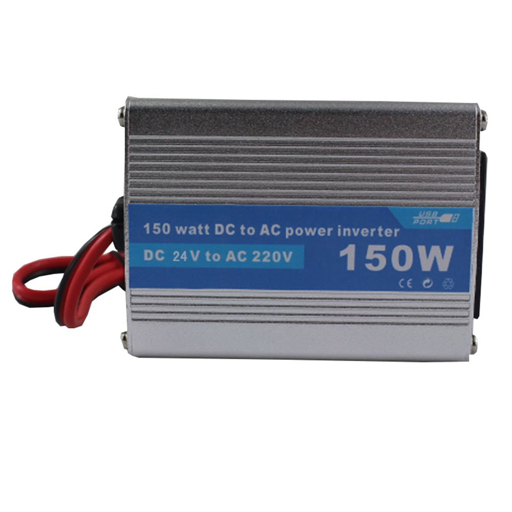 Lznlink Solar Power Inverter 150W 12V/24V DC To 220V AC Modified Wave Converter
