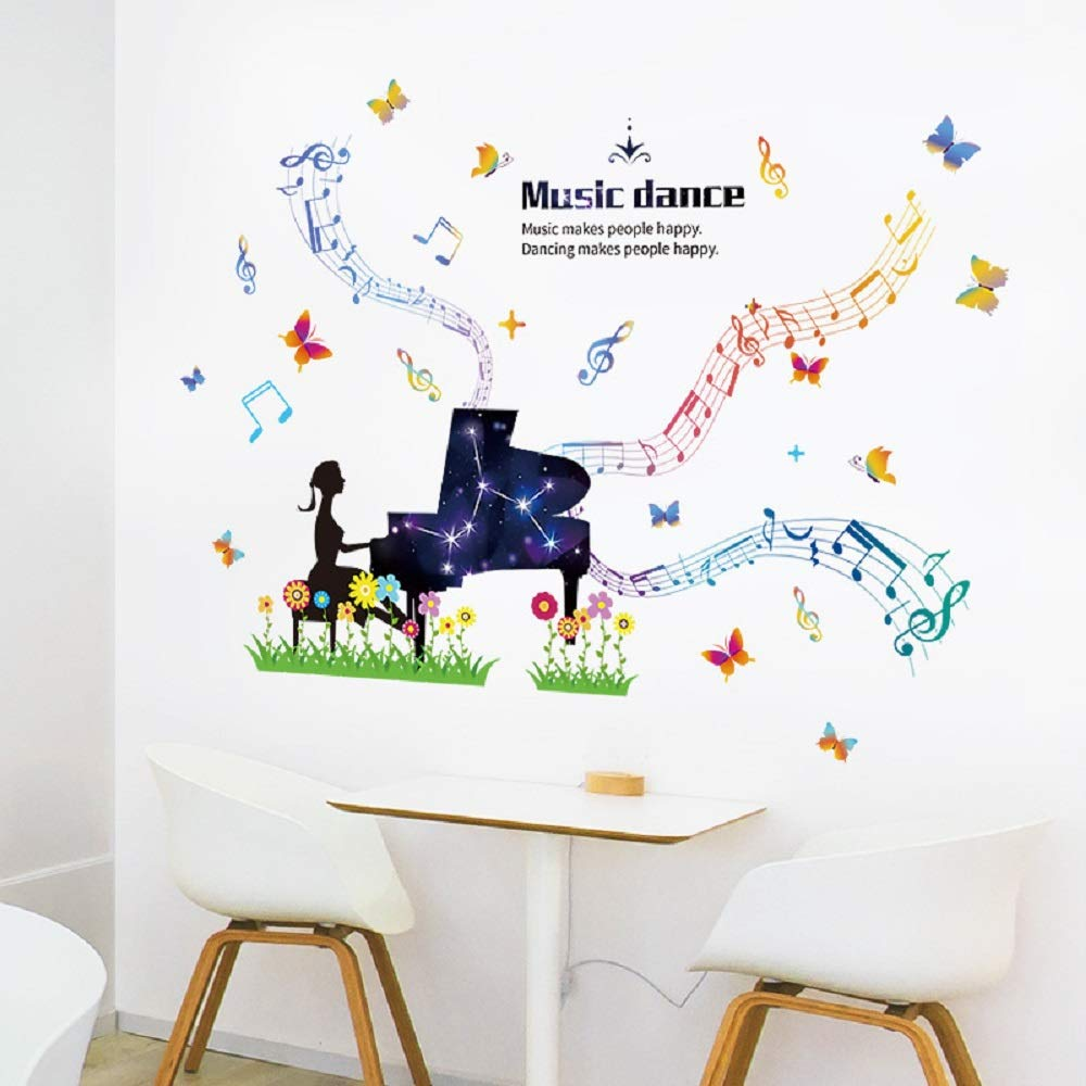 Music Piano Life Home Room Decor Removable Wall Stickers Decal Decoration