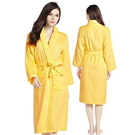 Unisex Luxury 100% Cotton Towelling Bath Robe Dressing Gown Wrap  Nightwear fbccad9c0