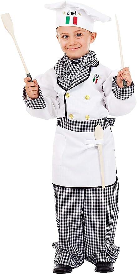 VENEZIANO Disfraz Cocinero Vestido Fiesta de Carnaval Fancy Dress ...